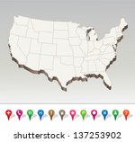 usa map | Shutterstock .eps vector #137253902