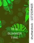 leaves of tropical plants....   Shutterstock .eps vector #1372539605