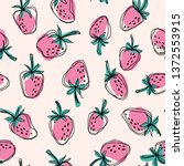 Hand Drawn Strawberry  Seamless ...