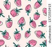 Hand Drawn Strawberry  Seamles...