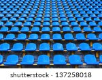 Amphitheater Of Dark Blue Seat...