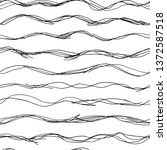 absreact hand drawn waves... | Shutterstock .eps vector #1372587518