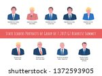 45th 2019 biarritz summit hand... | Shutterstock .eps vector #1372593905