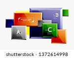 square geometric composition ...   Shutterstock .eps vector #1372614998