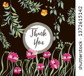botanic card with leaves ...   Shutterstock .eps vector #1372615142