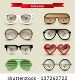 8 highly detailed glasses icons | Shutterstock .eps vector #137262722