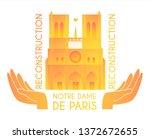 notre dame de paris... | Shutterstock .eps vector #1372672655