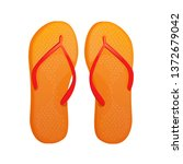 flip flop shoes vector...   Shutterstock .eps vector #1372679042