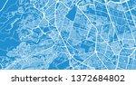 urban vector city map of... | Shutterstock .eps vector #1372684802