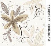 floral seamless pattern | Shutterstock .eps vector #137268512