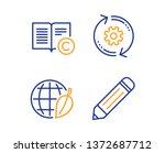 cogwheel  environment day and... | Shutterstock .eps vector #1372687712