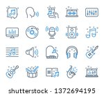 music line icons. set of... | Shutterstock .eps vector #1372694195