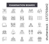 examination boards line icons ... | Shutterstock .eps vector #1372703642