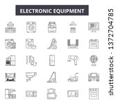 electronic equipment line icons ... | Shutterstock .eps vector #1372704785