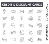 credit and discount cards line...   Shutterstock .eps vector #1372706912