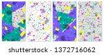set of memphis pattern. pop art ...   Shutterstock .eps vector #1372716062