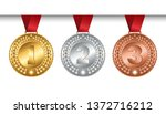 set of vector winner medals... | Shutterstock .eps vector #1372716212