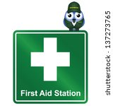 Comical First Aid Station Sign...