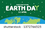 earth day is an annual event...   Shutterstock .eps vector #1372766525