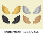 set wings | Shutterstock .eps vector #137277566