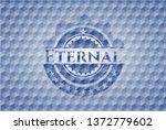 eternal blue emblem with...   Shutterstock .eps vector #1372779602