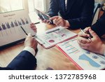business people hand pointing...   Shutterstock . vector #1372785968