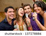 group of friends having fun... | Shutterstock . vector #137278886