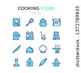 cooking icons. vector line... | Shutterstock .eps vector #1372789835