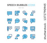 speech bubbles icons. vector...   Shutterstock .eps vector #1372790945