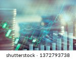 stock market or forex trading... | Shutterstock . vector #1372793738