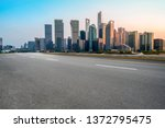 empty asphalt road through...   Shutterstock . vector #1372795475