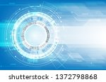 vector circuit board with gear... | Shutterstock .eps vector #1372798868