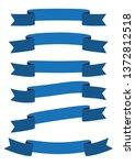 set of blue ribbon banner icon... | Shutterstock .eps vector #1372812518