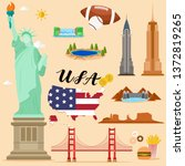 tourist united state of america ... | Shutterstock .eps vector #1372819265