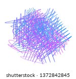 colorful tangle shape on white. ... | Shutterstock .eps vector #1372842845