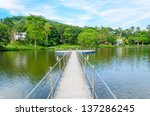bridge into the river in the... | Shutterstock . vector #137286245