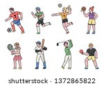 athlete characters by sport... | Shutterstock .eps vector #1372865822