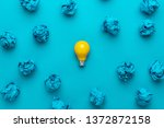 new idea concept with crumpled...   Shutterstock . vector #1372872158