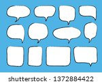 vector bubbles speech set. hand ... | Shutterstock .eps vector #1372884422