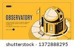 ground based observatory for... | Shutterstock .eps vector #1372888295