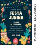 Festa Junina Poster Brazil Jun...
