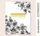 vintage delicate greeting... | Shutterstock . vector #1372904315