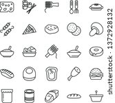 thin line vector icon set  ... | Shutterstock .eps vector #1372928132