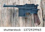 antique german broomhandle... | Shutterstock . vector #1372929965