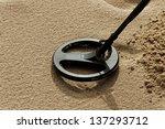 Metal Detector On The Sand.