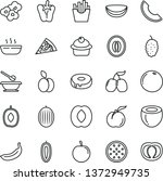thin line vector icon set  ... | Shutterstock .eps vector #1372949735