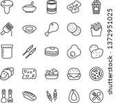 thin line vector icon set  ... | Shutterstock .eps vector #1372951025