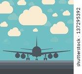 creative plane illustration | Shutterstock . vector #137295392
