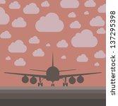 creative plane illustration | Shutterstock . vector #137295398