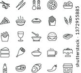 thin line vector icon set  ... | Shutterstock .eps vector #1372955885